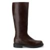 CAPTAIN-100 Brown Faux Leather